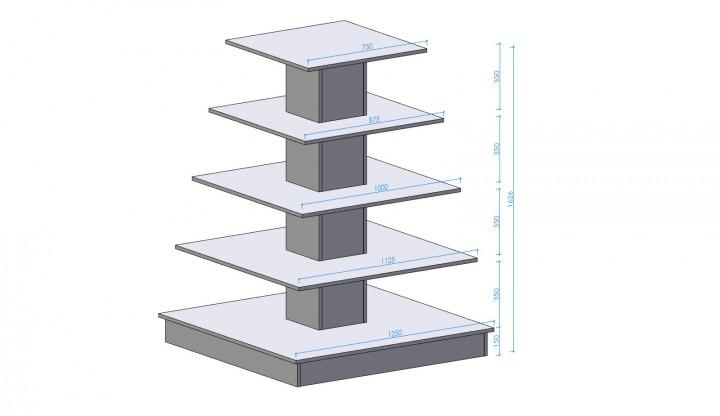 Präsentationsmöbel Pyramide