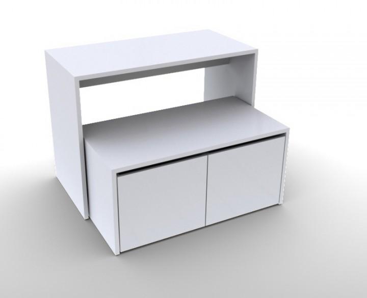Präsentationstisch mit Schubladen