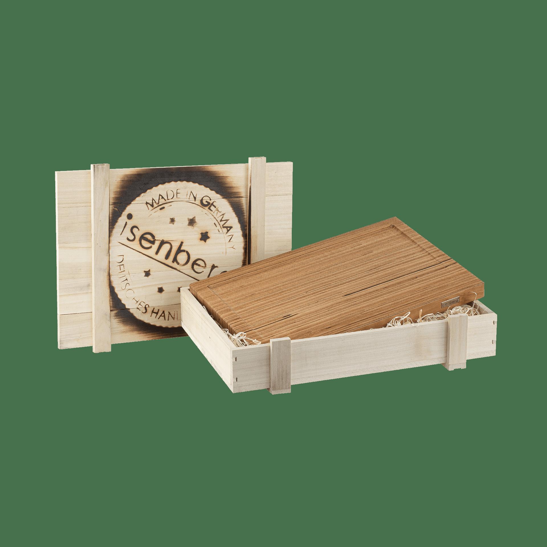 Isenberg Profi Schneidebrett Typ 3 Baubuche in Kiste